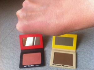 Duo Hot mama et the balm avec swatch v2